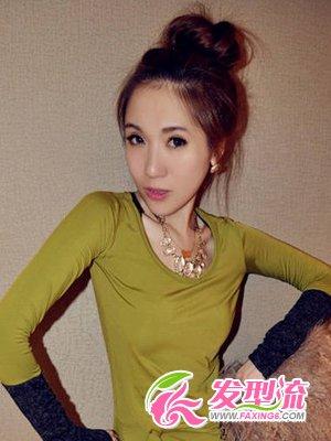 韩国发型扎法_潮流韩范儿女生发型简单不乏气质(17)