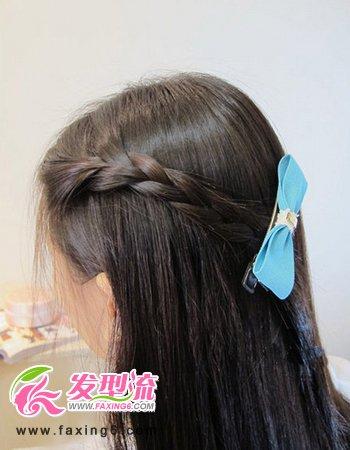 韩式麻花辫发型扎法图解图片图片