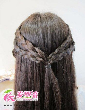 韩式麻花辫发型扎法图解(3)图片