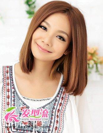 女生干练气质短发 2015短发 齐耳短直发发型图片大全图片图片