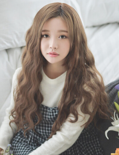 美发造型 卷发发型  韩式长发蛋卷头发型1, 细波浪式的蛋卷烫发令整体图片
