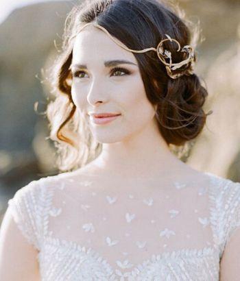 国字脸盘什么新娘发型漂亮 长发新娘盘发发型图片