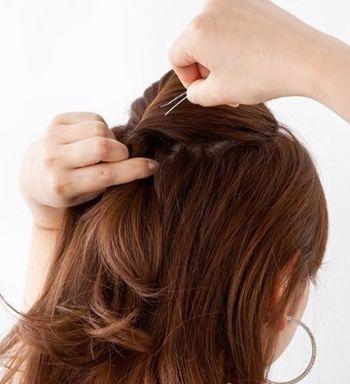 头发稀少的短发盘发图片 应该短又少头发简单盘发图解图片