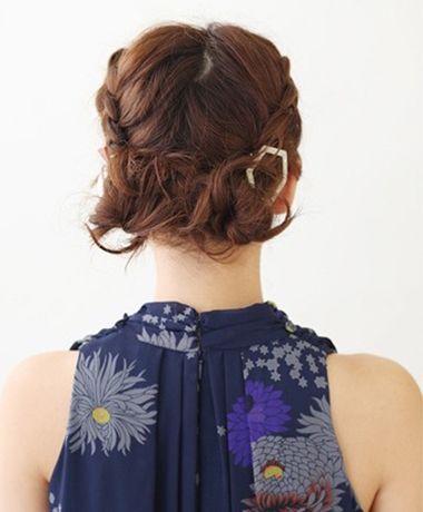 短发能盘头发么 较短盘头发的步骤(8)