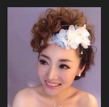 中短发如何盘新娘发 短发新娘盘发造型图片大全(4)