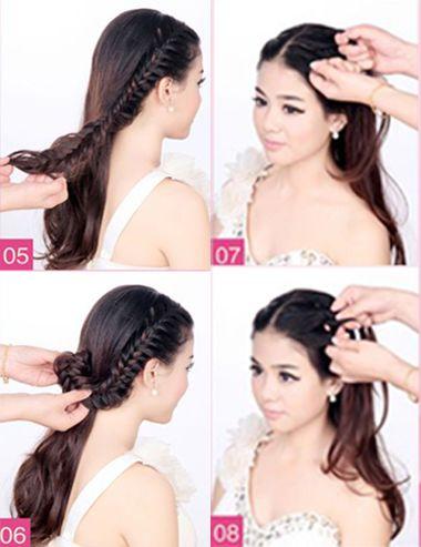 韩式新娘发型扎法 最炫新娘盘发教程(2)