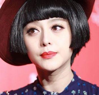 齐刘海新潮短发波波头发型