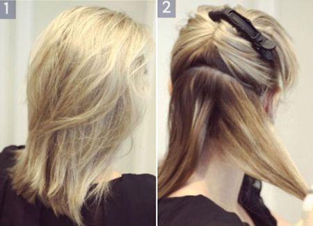 秋冬季发型盘发方法 中发盘头发型图解步骤图片