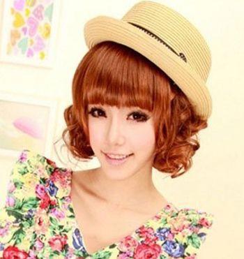 bobo头短发烫发设计 短发bobo头纹理烫发型图片(4)图片