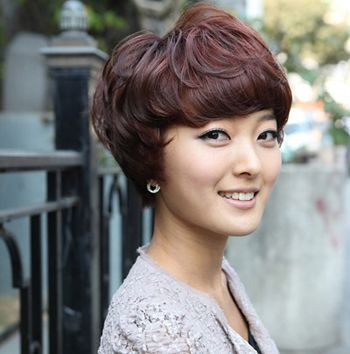 bobo头短发烫发设计 短发bobo头纹理烫发型图片(3)