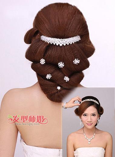 2015年新娘韩式发型图片 影楼韩式发型步骤图(4)