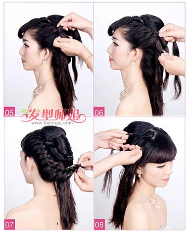 韩式编发新娘发型步骤 新娘编发发型图解(2)
