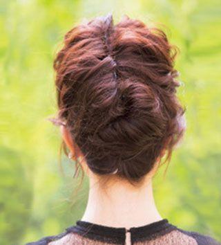 头发薄少怎样盘出发型 中年头发稀少盘发发型步骤(2)