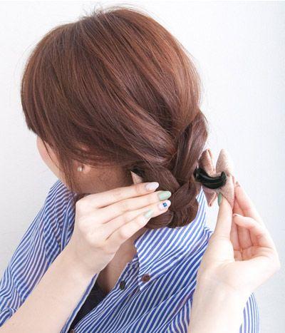 如何盘发型好看 盘发发型图片步骤(5)