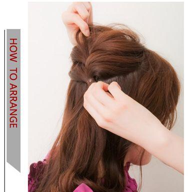 中短发编发发型盘法 中短卷发编发发型扎法(2)