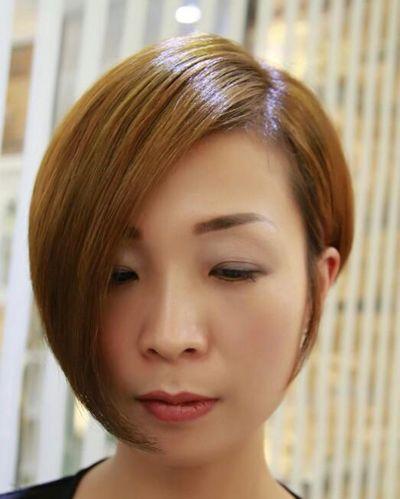 沙宣中短发渐v短发发型视频沙宣小孩与发型的搭配(2)颜色怎么扎发视频教学图片图片