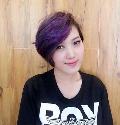 沙宣中短发渐变色发型图片 沙宣发型与颜色的搭配(3)图片