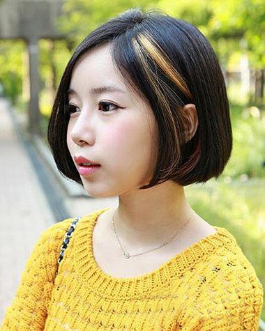 头发少的圆脸女人应该什么沙宣短发 圆脸应该的沙宣短发(3)图片
