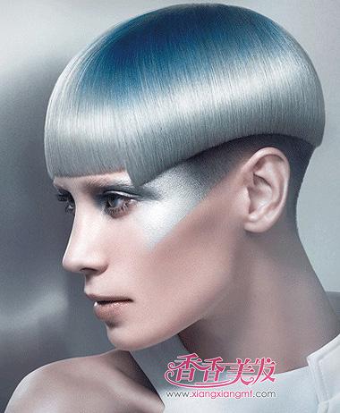 方脸蘑菇头沙宣短发发型