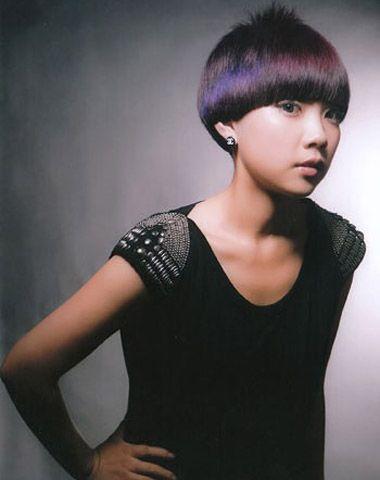 应该圆脸的短发沙宣发型 圆脸沙宣短发直发型(4)图片