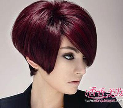 沙宣短发发型应该什么脸型 沙宣菱形脸发型图片中短发图片
