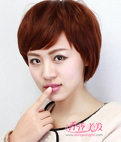 2015女人沙宣头纹理烫发发型 女人纹理烫短发发型(2)图片
