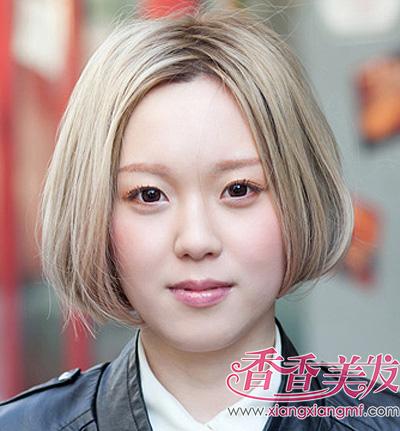 学生沙宣头发型图片短发 应该大脸的沙宣头短发发型(2图片