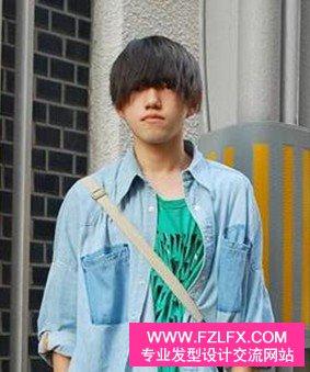 英俊男人锅盖头发型(2)图片