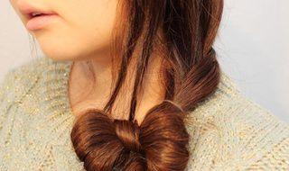 头发编马尾蝴蝶结马尾编辫子的方法图解发型色半截图片
