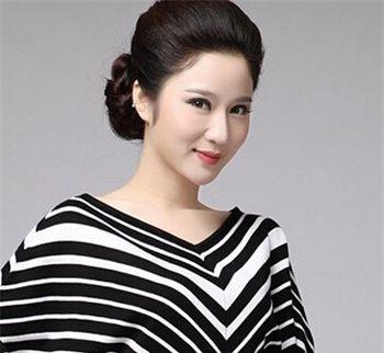 符合中年人盘头发型 中年女盘头发型照片(2)图片
