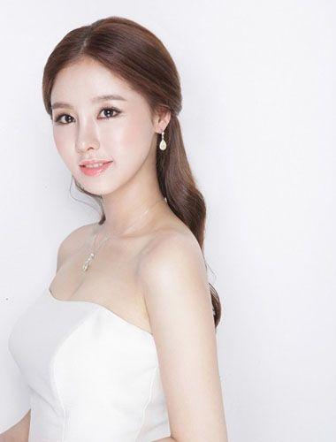 长头发没有刘海的发型 没有刘海的新娘发型(3)