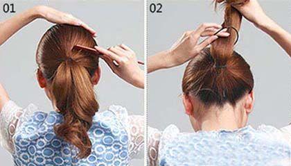 不做没气质的中年妇女,做最气质的三十玫瑰,盘发就很适合哦图片