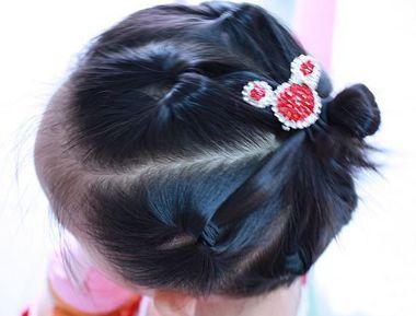 小女孩短发发型设计与脸型搭配 小女孩盘头的发型(5)
