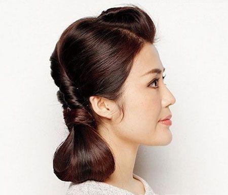 盘发发型中长扎法图解 可爱的盘发发型步骤