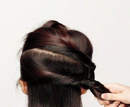 盘发发型中长扎法图解 可爱的盘发发型步骤(7)