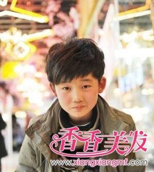 可爱韩国男童发型 男孩儿童发型图片