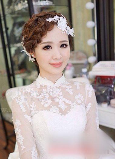 脸胖的新娘如何盘发 脸胖的婚纱盘头(3)_发型图片