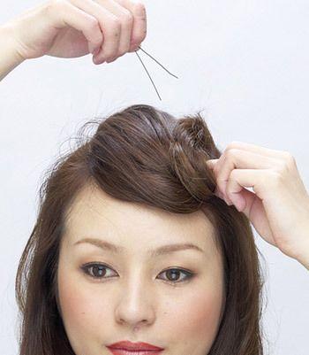 中长发发型盘法图解 最简单盘发型的步骤