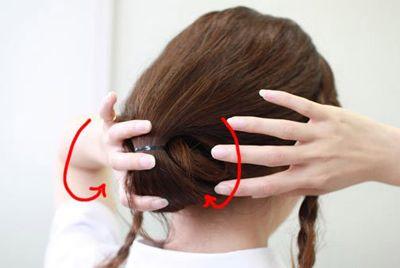 短头发怎样盘发好看 盘发器编短头发花样步骤(3)