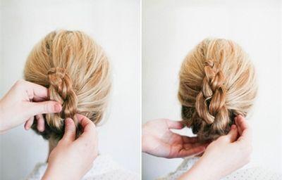 女孩子怎样盘头发好看 女孩盘头发步骤酷酷的(2)