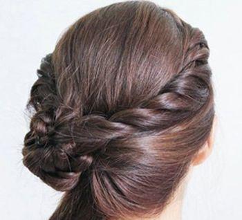 怎样盘气质发型 简约盘发发型图片步骤(5)