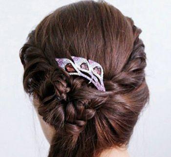 怎样盘气质发型 简约盘发发型图片步骤(6)图片