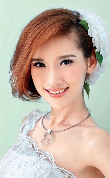 中短发新娘发型 齐刘海中短发新娘发型设计
