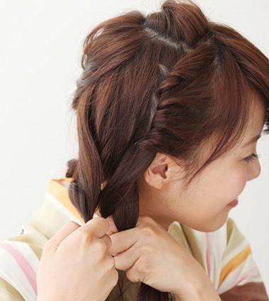 花样盘发发型步骤 长发盘发发型扎法图解详细(2)