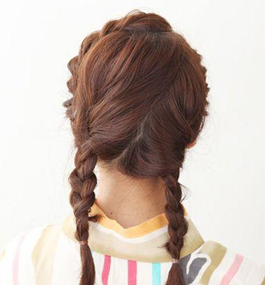 花样盘发发型步骤 长发盘发发型扎法图解详细(3)