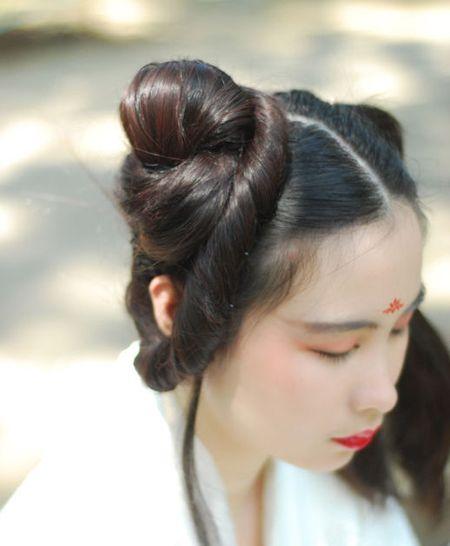 古代少女头发如何盘 漂亮少女的盘发(7)_发型图片