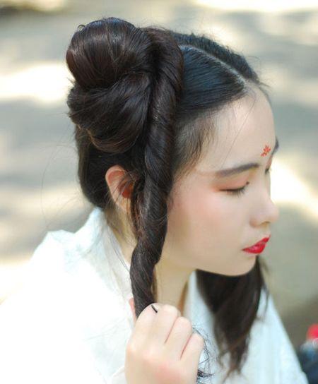 古代少女头发如何盘 漂亮少女的盘发(6)_发型图片