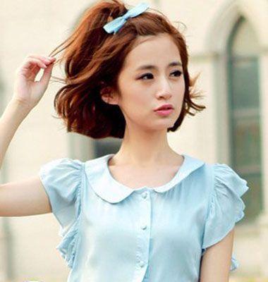 学生短发发型如何扎 韩式学生简单发型扎法
