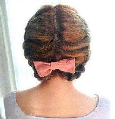 怎么盘中短头发 短发盘头发简单好看的步骤