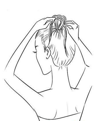 韩式新娘盘头发的步骤 新娘简单高贵头发盘扎图解(2)